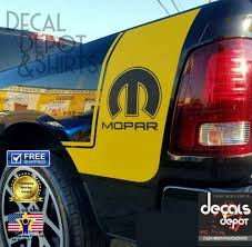 Mopar Decal Fits Dodge Ram 1500 2500 Ram Rt Bed Vinyl Stripes Truck Custom Decal Oracalhighperformancevinyl Mopar Truck Wraps Graphics Vinyl Graphics