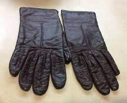 vtg fownes leather gloves brown 8 long
