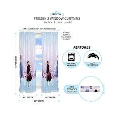 Franco Kids Room Window Curtain Panels With Tie Backs Drapes Set 82 X 63 Disney Frozen 2 Idisneyplus Amazing Disney Products