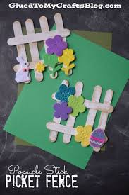 A Fun Spring Craft For Kids To Make Popsicle Stick Picket Fence Popsicle Crafts Crafts For Kids Easter Crafts For Kids