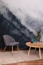 Watercolor Landscape Mountain Fog Removable Wallpaper Peel And Stick Self Adhesive Watercolor Wall Covering Wall Decal Wall Decor 63 Removable Wallpaper Decor Wall Decor