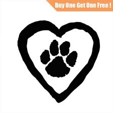 11 7 11 4cm Dog Or Cat Paw Prints Sticker Home Decor Wall Decal For Laptop Truck Motorcycle Cars Auto Window Bumper Vinyl Gift Stickers Wish