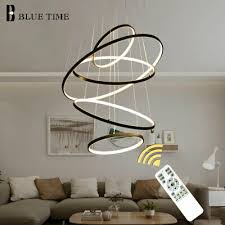 circle ceiling mounted led chandelier