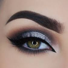 silver black and brown smokey eye