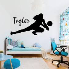 Volleyball Wall Decal Personalized Vinyl Decor For Etsy