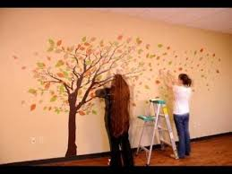 This Is An Installation Of One Of Our Most Popular Trees This Installation Took About An Hour And A Half To Complet Wall Decals Family Tree Art Decal Wall Art