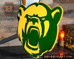 Baylor University Bear Mascot 3d Metal Wall Art Hex Head Art