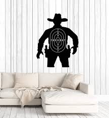 Amazon Com Vinyl Wall Decal Silhouette Cowboy Target Kids Room Decoration Stickers Mural Large Decor Ig5462 Home Kitchen
