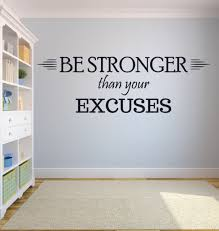 Window Wall Decal Sticker Be Stronger Than Your Excuses Gym Motivation Quote Isp Paris