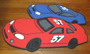 Kids Boys Room Wall Decor Straight Pin Board Cars Racing Blue Red Black White Ebay