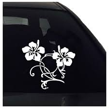 Hibiscus Flower Decal Hibiscus Flower Sticker Car Sticker Decal Nuovocreations