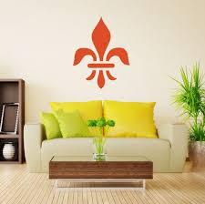 Large Fleur De Lis Wall Vinyl Decor Wall Decal Customvinyldecor Com