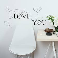 Room Mates P S I Love You Peel And Stick Wall Decal Reviews Wayfair