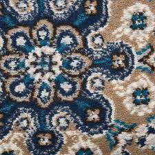arend oriental navy blue white area rug