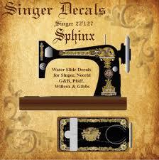Singer Sewing Machine Restoration Decals Home Facebook