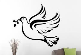 Dove Of Peace Wall Decal Bird Vinyl Sticker Animal Art Home Etsy