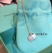 co mini double heart tag pendant
