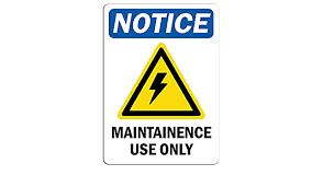 Amazon Com Notice Maintenance Use Only Sign With Symbol Label Decal Sticker Retail Store Sign Sticks To Any Surface 8 Office Products