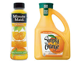 minute maid vs simply orange and the