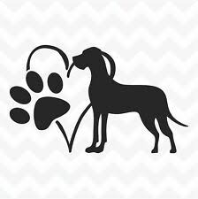 Great Dane Dog Pet Paw Print Car Truck Window Vinyl Decal Sticker 12 Colors Ebay Pet Paw Print Great Dane Dogs Paw Print Art