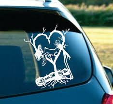 Jack And Sally Skellington In Love Nightmare Before Christmas Car Decal 7 White Ebay