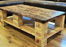 euro pallet wood coffee table