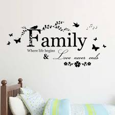 1pcs English Word Family Living Room Wall Decals Adesivos Home Decoration Wallpaper Painting Removable Wall Sticker Art Poster Wall Sticker Removable Wall Stickerswall Decals Aliexpress