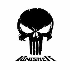 Car Sticker Punisher Fashion Creative Skull Window Decal Decoration Pvc Car Sticker Cover Scratch Black White 18cm 14cm Car Stickers Aliexpress