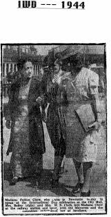 1944 Madame Fabian Chow, guest speaker at Newcastle IWD, with Mrs ...