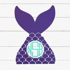 Mermaid Tail Monogram Decal Harpykin Designs