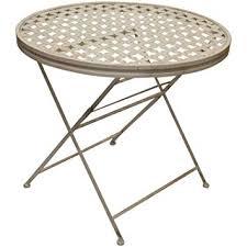 folding metal garden patio dining table