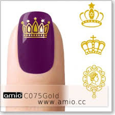 Water Nail Decal Crown Gold C075gold Us 0 30 Amio Inc Supply Water Nail Decal Nail Sticker Tattoo Sticker