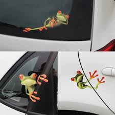 3pcs 19 2 X 20 5cm Funny Car Stickers 3d Frogs Vinyl Decal Sticker Car Styling Decoration Auto Stickers Car Stickers Funny Funny Car Decals Car Sticker Design