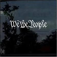 We The People Window Decal Sticker Custom Sticker Shop