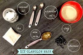 diy charcoal mask with 3 ing
