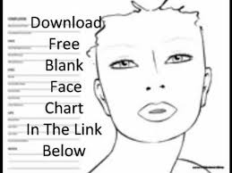 free blank face chart you