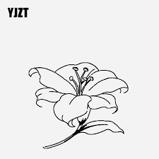 Yjzt 16 6cm 14 3cm Car Sticker Vinyl Decal Lily For The Holy Purity Black Silver C23 0478 Car Stickers Aliexpress