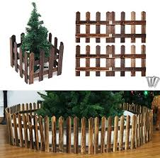 Garden Wood Fence With Screws Suitable For Christmas Trees Lawn Pet 47x11 8 Inch Coffee Amazon Ca Home Kitchen