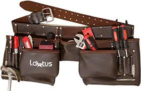 lautus oil tanned leather tool belt
