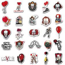 50pcs Horror Movie Stephen Kings It Sticker Pennywise Joker Decal Sticker For Motorcycle Moto Car Laptop Suitcase Cool Stickers Stickers Aliexpress