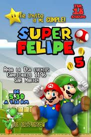 Tarjetas Invitaciones Cumpleanos Mario Bros X10uni 60 00 En