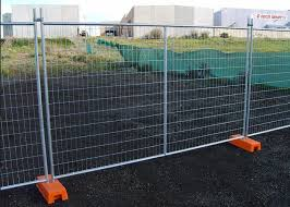 Anti Corrosion Secure Temporary Metal Fence Panels For Construction Site