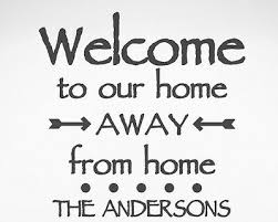 Personalized Welcome To Our Home Rv Camper Trailer Camp Vinyl Decal Sticker Sign Ebay