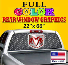 Purchase Nice Dodge Sign Car Truck Decal One Way Vision Sign 22 X66 Ford Chevy Dodge Motorcycle In Provo Utah Us For Us 39 99