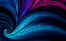 تحميل خلفيات الأمواج الزرقاء خلفية داكنة الفن 3d الفن التجريدي