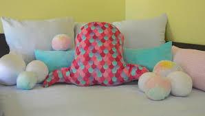Mermaid Tail Pillow Mermaid Decor For Girls Room Mermaid Etsy
