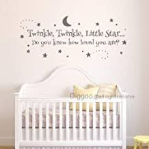 Diggoo Baby Nursery Wall Decal Twinkle Twinkle Little Star Decal Baby Bedroom Wall Decal Kids Playroom Decor Gray 9 H X 22 W Buy Products Online With Ubuy Kuwait In Affordable Prices