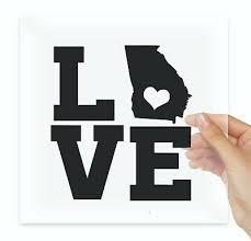 Home State Of Georgia Decal Car Window Vehicle Sticker 75217