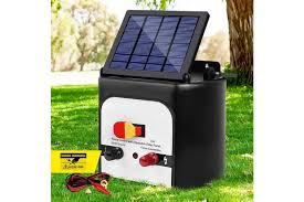 Giantz 8km Solar Electric Fence Energiser Wire Energizer Unit For Goats Cattle Horses Kogan Com
