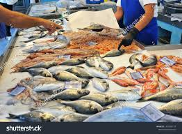 Italian Seafood Store Stock Photo ...